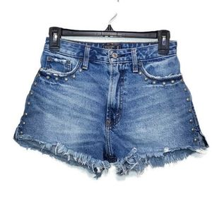 Abercrombie & Fitch annie high rise shorts studded
